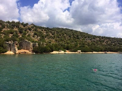 Swimming along the lycian way small